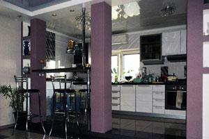 Совмещенные кухни  -5