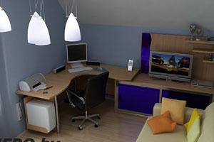 Угловой компьютерный стол -3