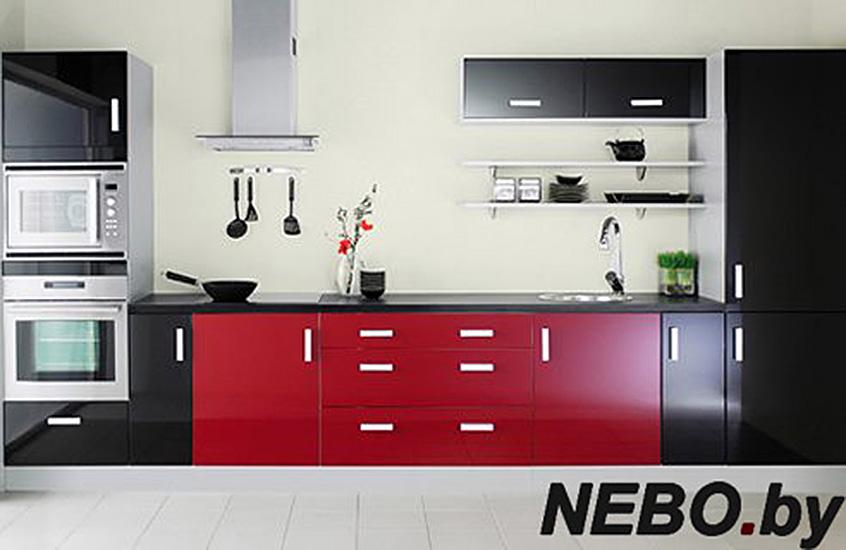 Кухня в красно черном цвете дизайн фото