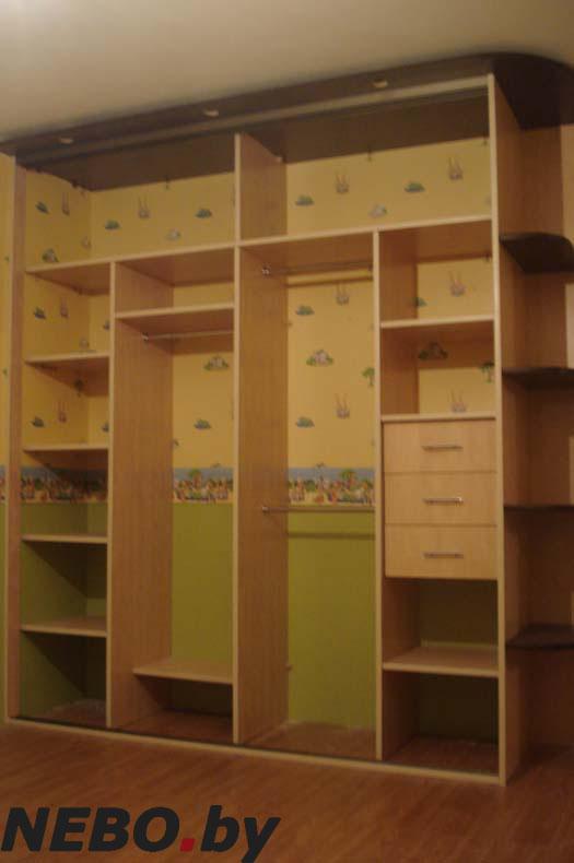 шкафы в спальню фото внутри с размерами