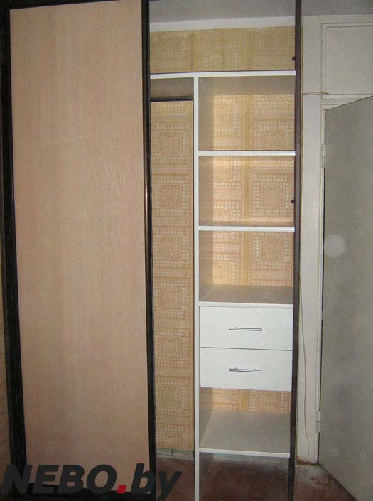 Шкафы купе в спальню фото внутри