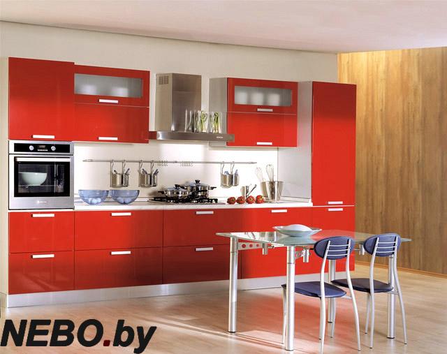 Фото красные кухни дизайн