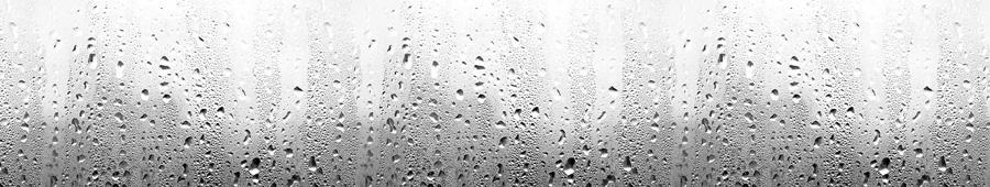 Скинали - Капли воды на стекле, черно-белый фон