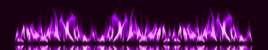Скинали - Фиолетовое пламя на темном фоне