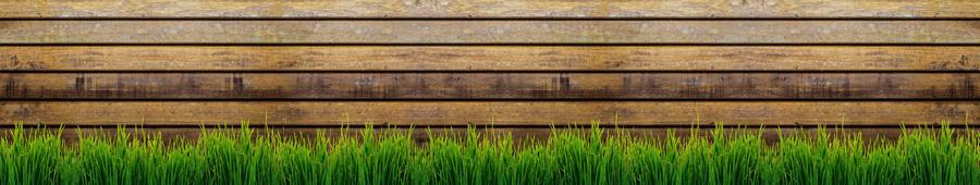 Скинали - Трава на фоне деревянной стены