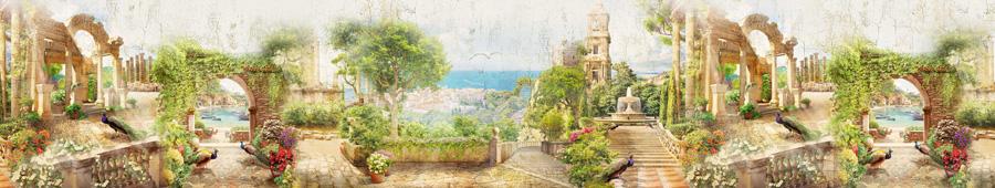 Скинали - Волшебные сады и террасы с павлинами
