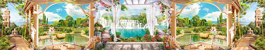 Скинали - Фантазийные виды на море, водопады с террасы