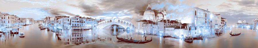 Скинали - Ночная Венеция в голубом освещении