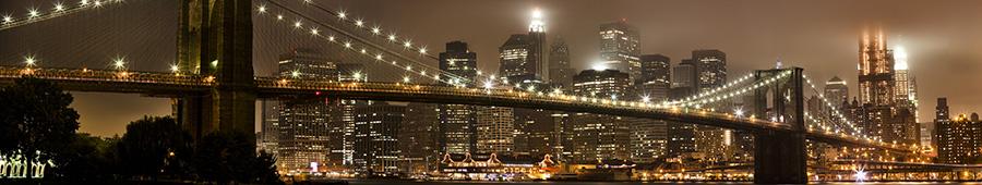 Скинали - Сверкающий Бруклинский мост в шоколадных тонах