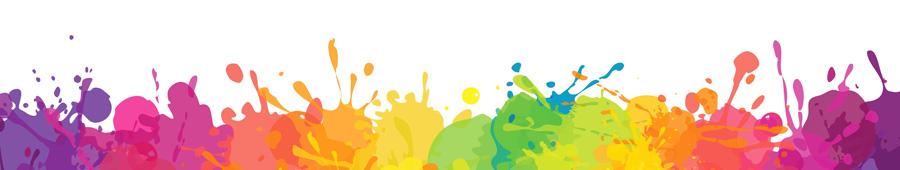 Скинали - Пятна красок на белом фоне
