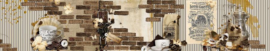 Скинали - Винтажный фон на кофейную тему