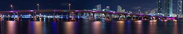 Скинали - Красивый светящийся мост в Майами