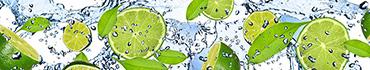 Скинали - Лайм, зеленые лепестки и водичка