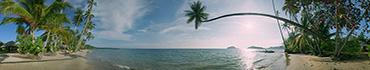Скинали - Красивый просторный пляж рано утром