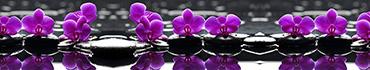 Скинали - Черные камни и фиолетовые орхидеи