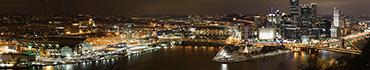 Скинали - Панорама ночного города с высоту птичьего полета