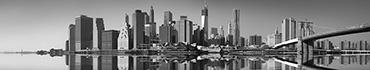 Скинали - Черно-белый Манхэттен и Бруклинский мост