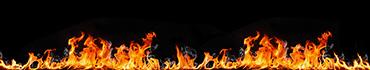 Скинали - Огненный коллаж на черном фоне