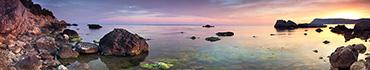 Скинали - Каменистый берег на закате