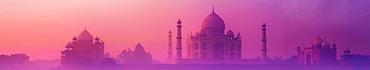 Скинали - Тадж-Махал в фиолетовом тумане