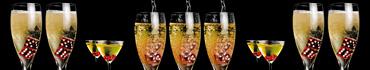 Скинали - Игральные кости в бокалах с шампанским