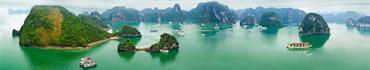 Скинали - Потрясающий вид ранним утром на скалы залива во Вьетнаме