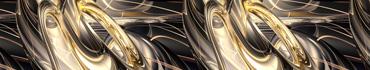 Скинали - Золотые и бронзовые абстрактные пути-провода