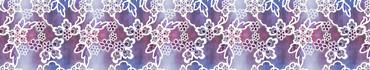Скинали - Белые кружева с цветами на темной фоне