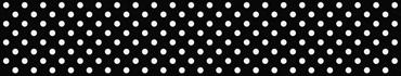 Скинали - Белый горошек на черном фоне