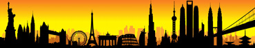 Скинали - Интернациональный пейзаж города на закате