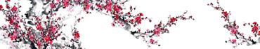 Скинали - Цветение сливы, китайская живопись