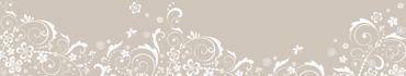 Скинали - Легкий растительный узор на бежевом фоне