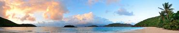Скинали - Закат на пляже Виргинских островов