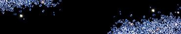 Скинали - Бриллианты в синем сиянии на черном фоне