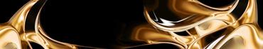 Скинали - Золотистые фигуры на черном фоне
