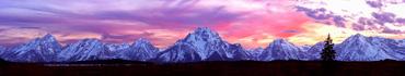 Скинали - Гранд-Титон на закате