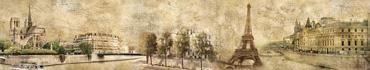 Скинали - Состаренный фон, достопримечательности Парижа