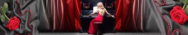 Скинали - Пианистка в красном платье