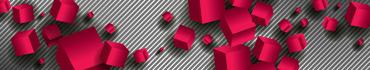 Скинали - Красные кубы на фоне полосок