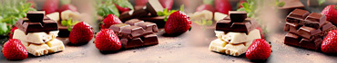 Скинали - Сочная клубника и плитки шоколада