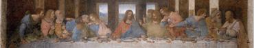 Скинали - Тайная вечеря, фреска (до реставрации), Леонардо да Винчи