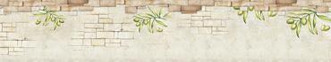 Скинали - Стена с рисунками оливок для стиля прованс