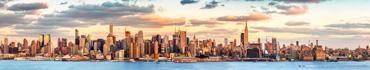 Скинали - Начало заката, панорама Манхэттена, Нью-Йорк