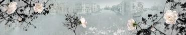 Скинали - Белые розы с каплями воды и Венеция на фоне