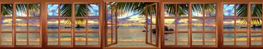 Скинали - Вид из окна на тропический пляж