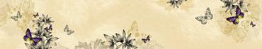 Скинали - Бабочки и растения в винтажном стиле