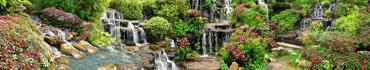 Скинали - Водопады в цветочных клумбах