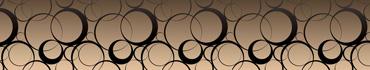 Скинали - Черные круги на нежно-бронзовом фоне