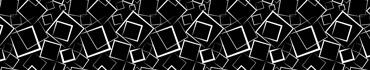 Скинали - Белые контуры квадратов на черном фоне