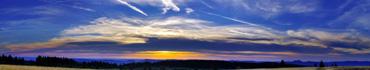 Скинали - Красивый закат в Эльзасе, Франция